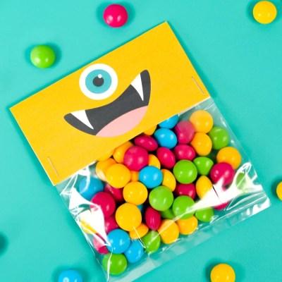 Printable Halloween Treat Bags: Cute Monsters