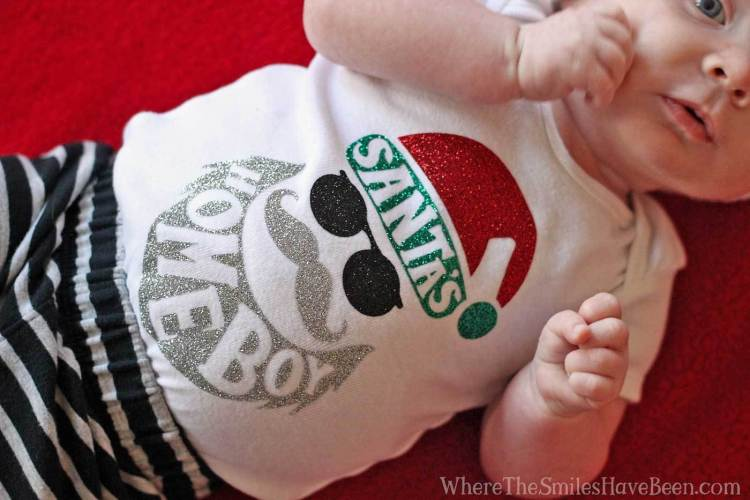 Santa's Homeboy Onesie Gift - Where the Smiles Have Been