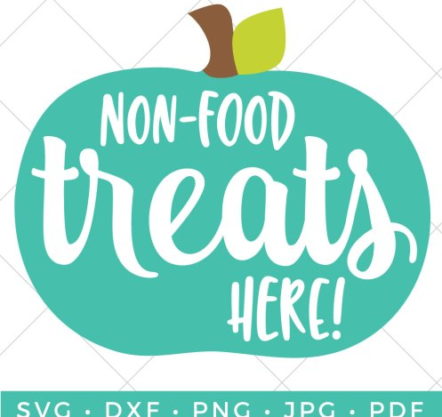 Let trick or treaters know that your house is allergen-friendly! A teal pumpkin shows that you have non-food toys and treats, which are perfect for kids with food allergies. Make this cute banner as part of the Teal Pumpkin Project!