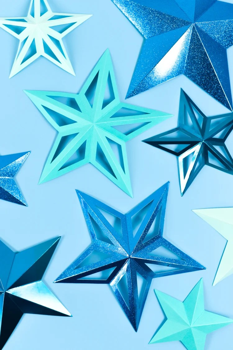 3D PAPER STARS WITH THE CRICUT SCORING WHEEL
