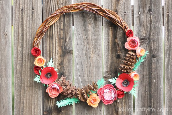 WOODLAND FALL PAPER WREATH