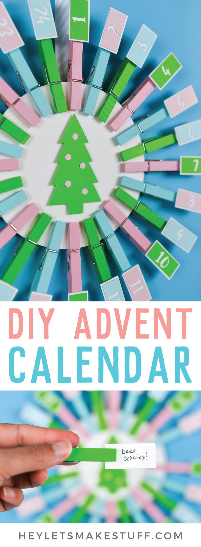 With a few materials from JOANN and your Cricut Explore or Maker, you can create this easy DIY Advent Calendar with Christmas activities! Your family will love counting down the days until Christmas! via @heyletsmakestuf