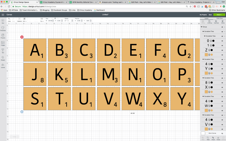 All letters in Design Space
