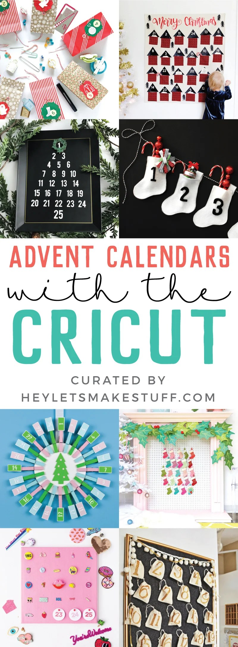 Count down the days to Christmas with these fun DIY Cricut advent calendars! Each of these Christmas advent calendars is made using your Cricut Explore or Cricut Maker—so many festive and fun ideas for your family! via @heyletsmakestuf