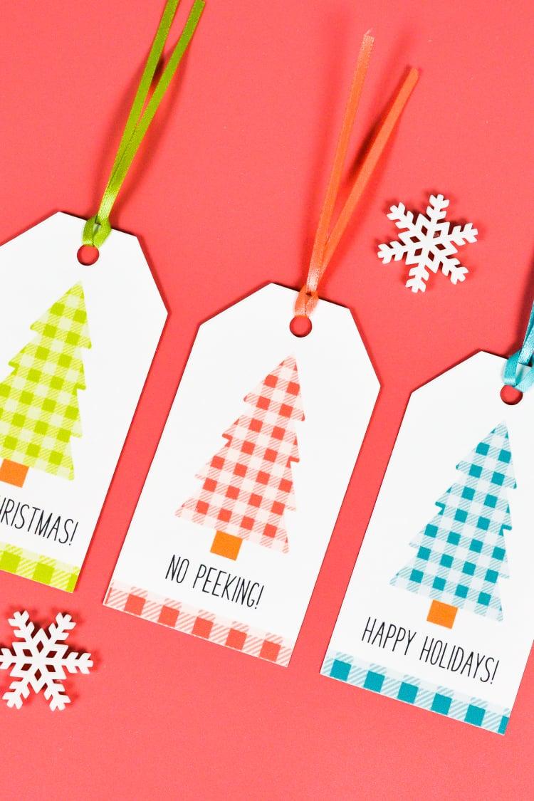Christmas Gift Tags Ideas.Buffalo Plaid Printable Christmas Gift Tags Hey Let S