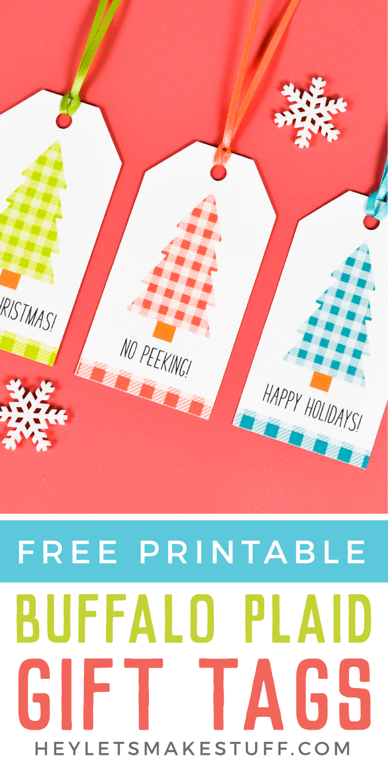 picture relating to Christmas Gift Tags Free Printable named Buffalo Plaid Printable Xmas Reward Tags - Hey, Makes it possible for