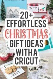 Cricut Christmas Gift Ideas pin image