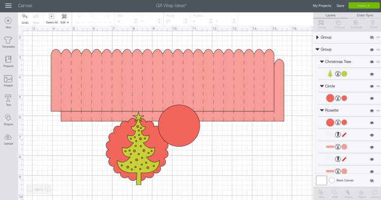 Rosette file in Cricut Design Space