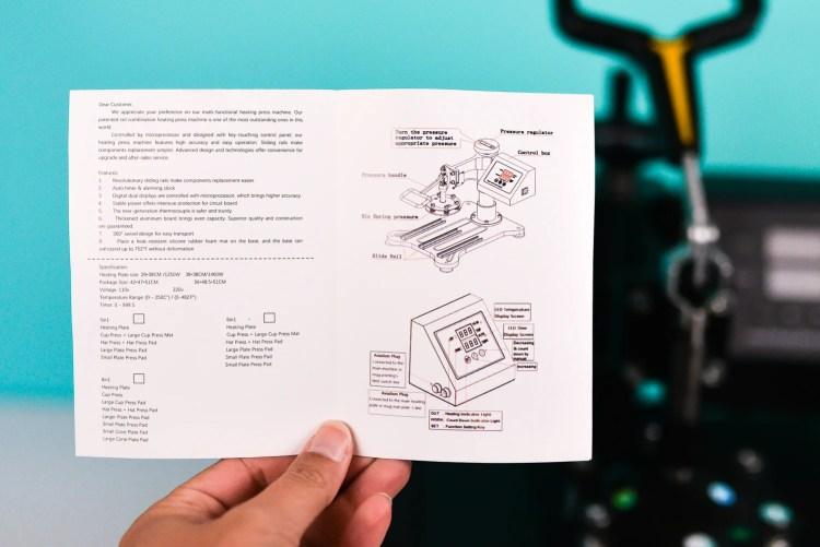 Heatpress instructions