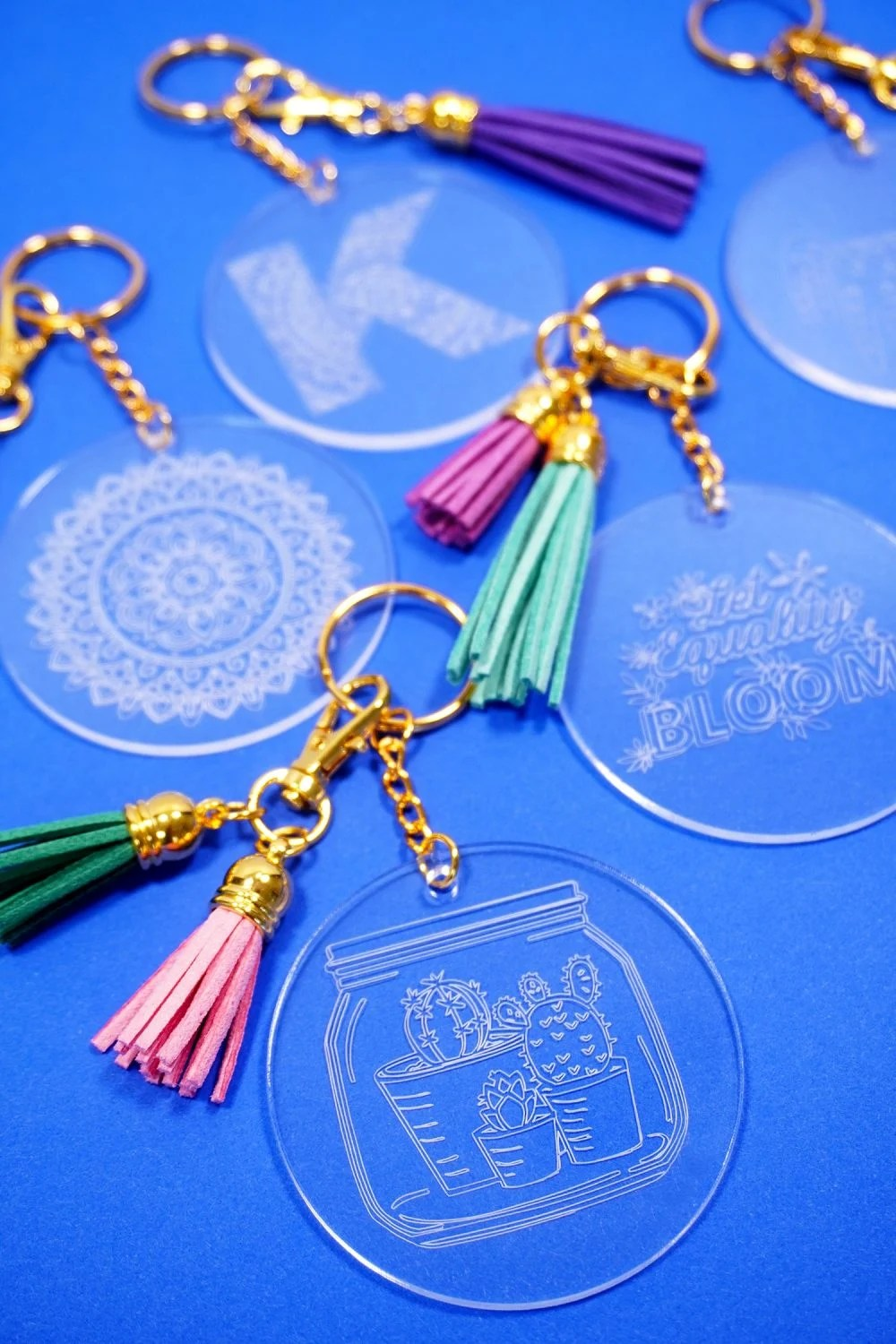 keychains with Cricut engraving tool