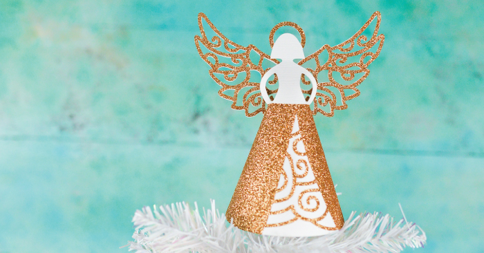 Paper Angel DIY Christmas Tree Topper