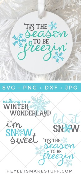 Baby, it's cold outside! The blustery wintery weather  is the perfect reason to stay indoors! This winter and snow SVG bundle will inspire all your holiday crafting.