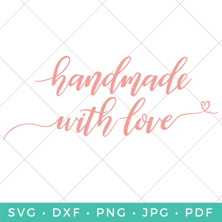 Show them how much you care with a gift that's truly from the heart. This Handmade with Love SVG adds that personal touch to all of your special creations.