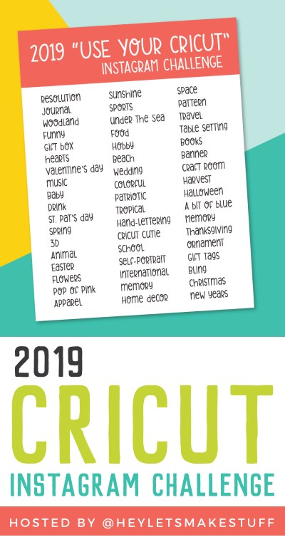 """Want an excuse to use your Cricut more? Finding yourself stuck in a rut with what you're making? The 2019 """"Use Your Cricut"""" Instagram Challenge is for you! 52 weekly inspiration prompts, Instagram features, prizes, and more!"""