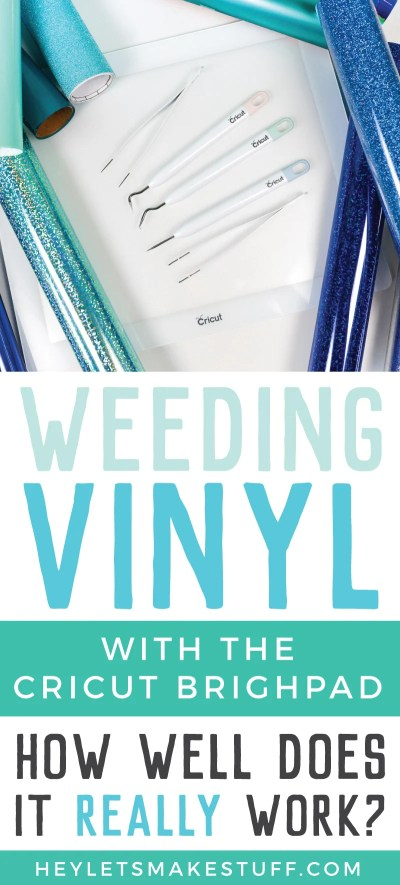 The Cricut Brightpad is designed to help make weeding vinyl easier. We put it to the test—here's how it fared on more than a dozen different adhesive and iron on vinyls!