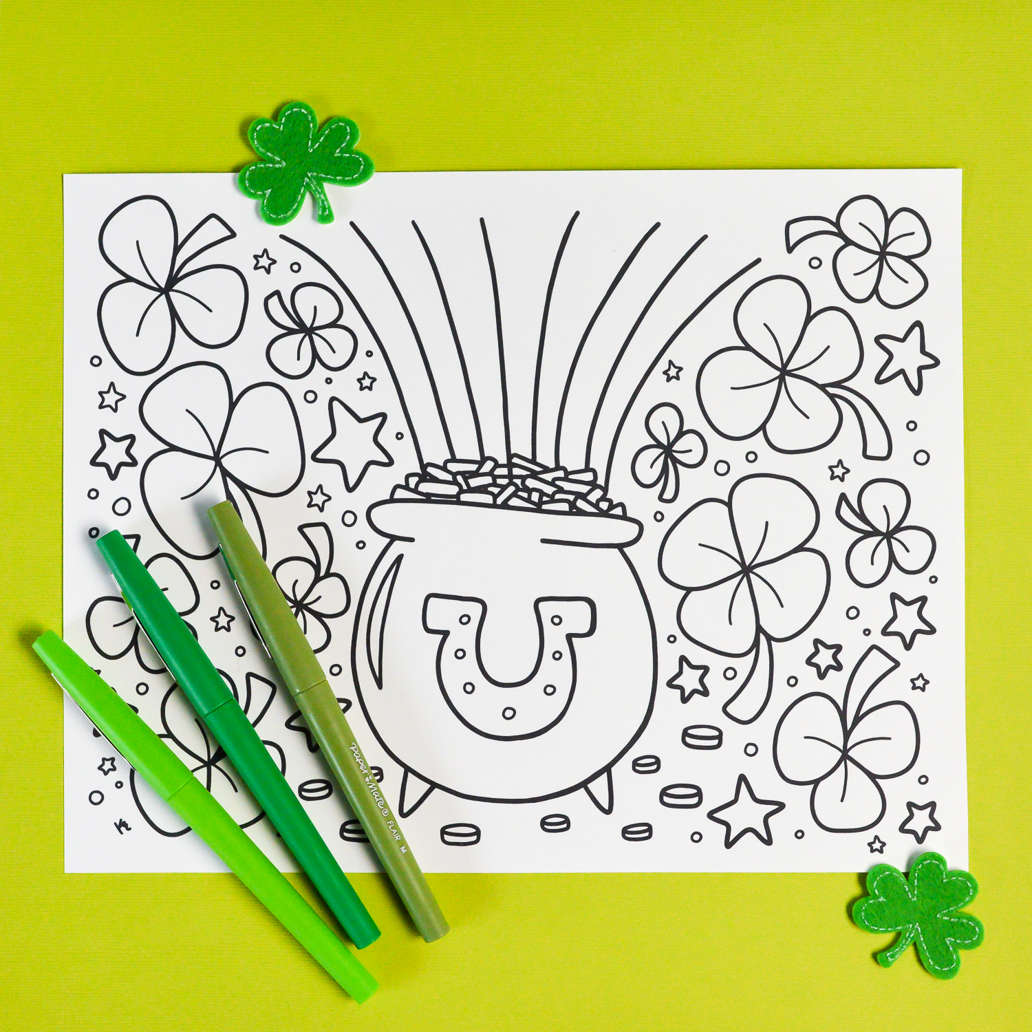 Free Printable St Patrick S Day Coloring Page Hey Let S Make Stuff