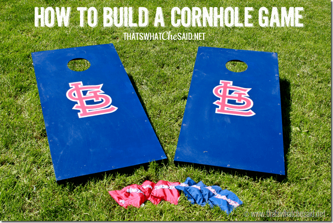 outdoor wedding games - Cornhole or bean bag toss