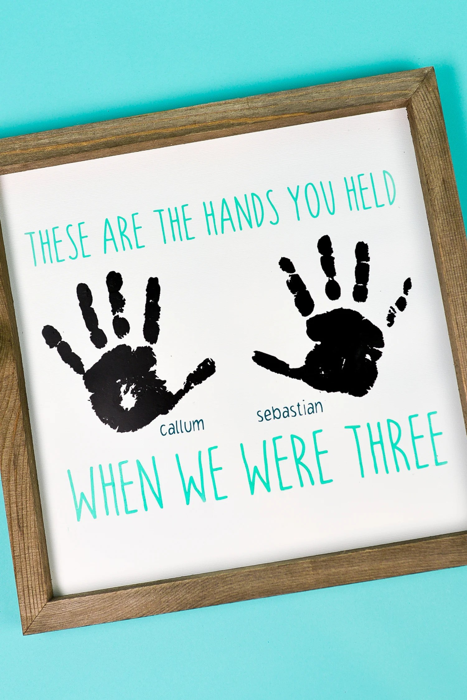 Handprint Craft With The Cricut Perfect For Gift Ideas