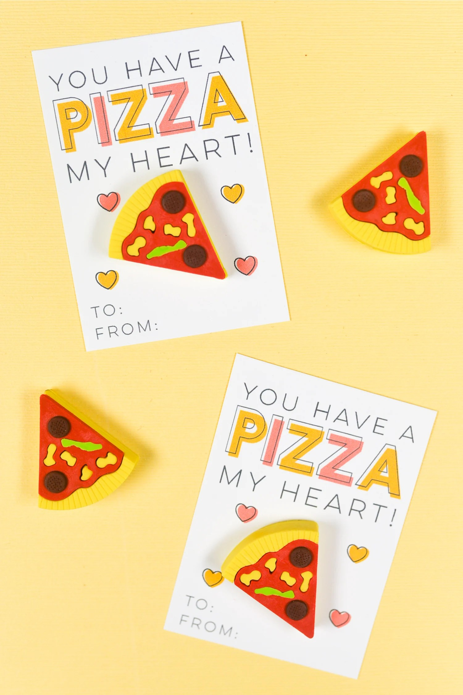 picture relating to Pizza Printable called No cost Printable Pizza Valentines - Hey, Allows Crank out Things