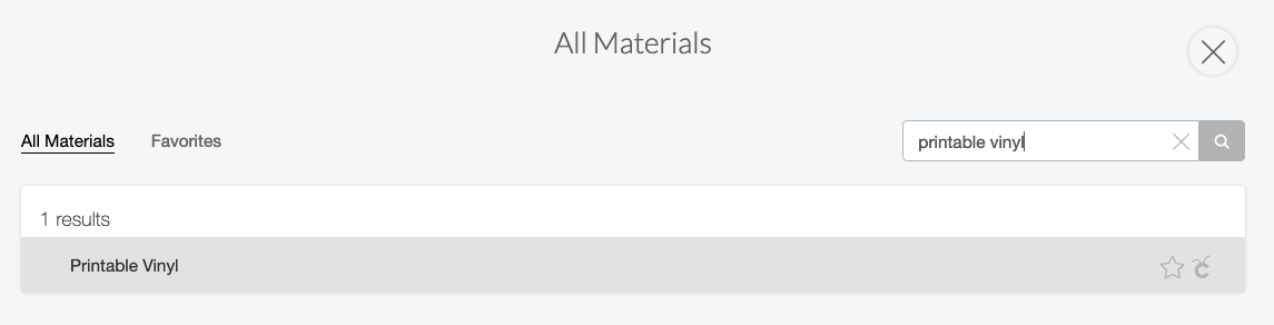 """For both the Explore or the Maker, search for """"printable vinyl"""" as your material."""