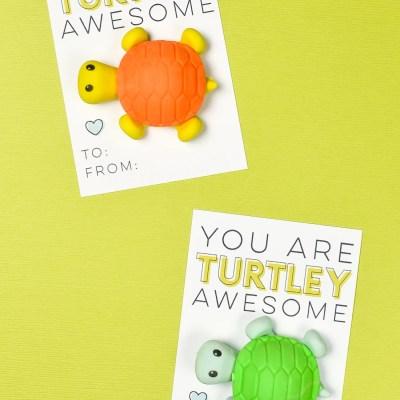 Free Printable Turtle Valentines
