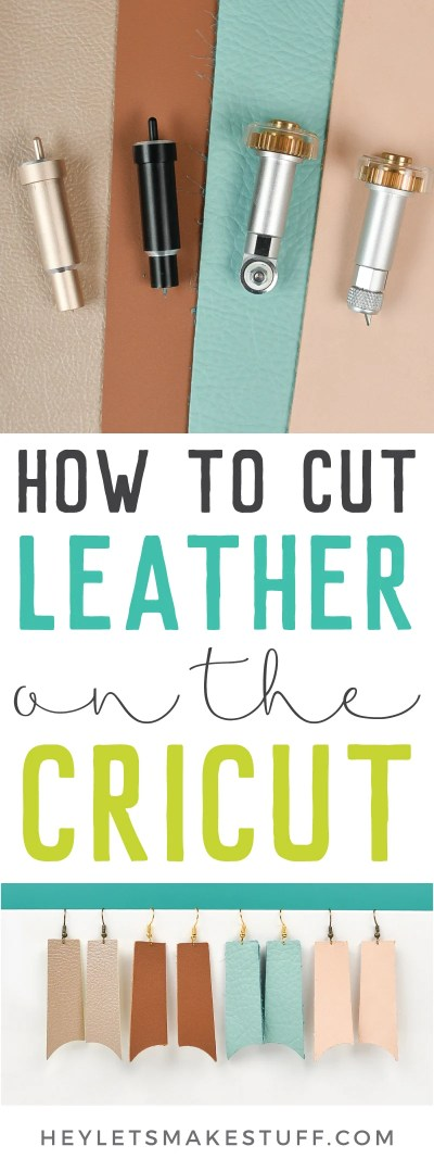 DIY leather crafts, decor, and fashion are super trendy. I'll show you how to cut leather with the Cricut Explore and Maker to make working with this tough material a little easier!