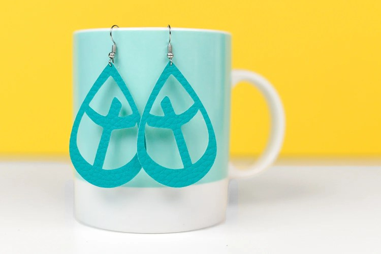Cross Earrings made with the Cricut