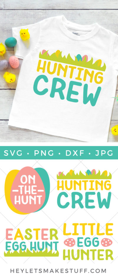 Get ready to send those kiddos out on the ultimate egg hunt! This Easter Egg Hunt SVG Bundle is perfect for Easter baskets, t-shirts and so much more!
