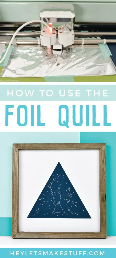 The Foil Quill is a revolutionary heating tool that works in all major cutting machines to beautifully foil projects on a variety of materials! Here's how to use the Foil Quill, tips and tricks for getting the best results, and a few ways to troubleshoot if you're having problems.