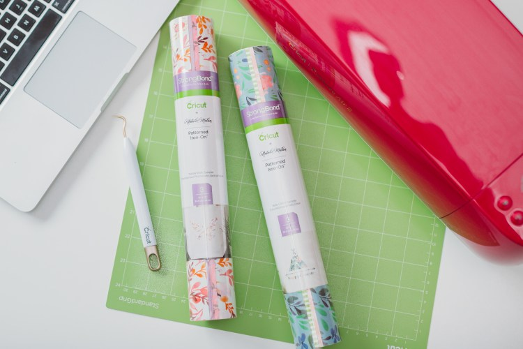 Cricut's line of patterned iron on vinyl is so versatile! This tutorial will teach you how to use Cricut patterned iron on vinyl on a tote bag, including temperature and time settings.
