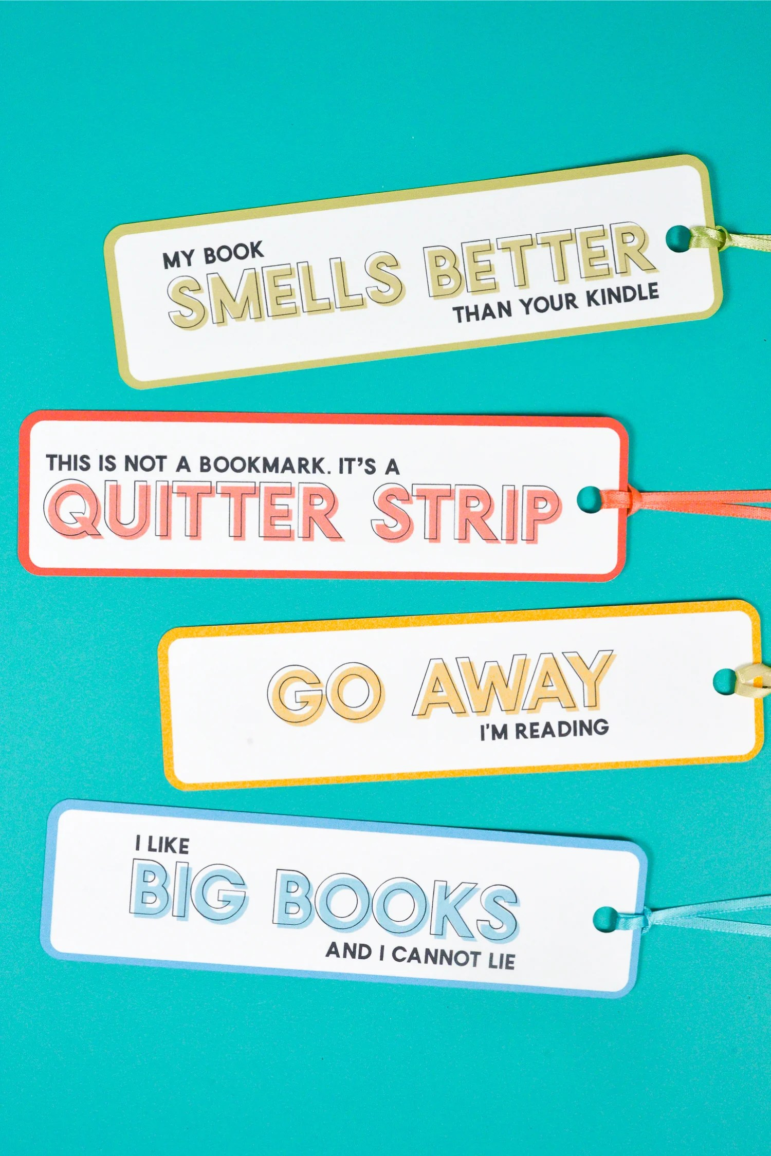 graphic regarding Free Printable Bookmarks to Color Pdf called Humorous Bookmarks - a No cost Printable - Hey, Permits Deliver Things