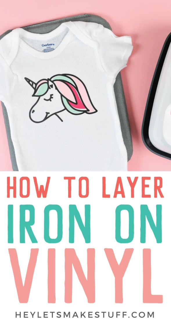 Bring new dimension to your projects with this tutorial on how to layer iron on vinyl! Get step by step instructions as well as tips and tricks for getting the best results!