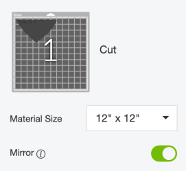 Make sure to mirror your vinyl by clicking the Mirror slider.