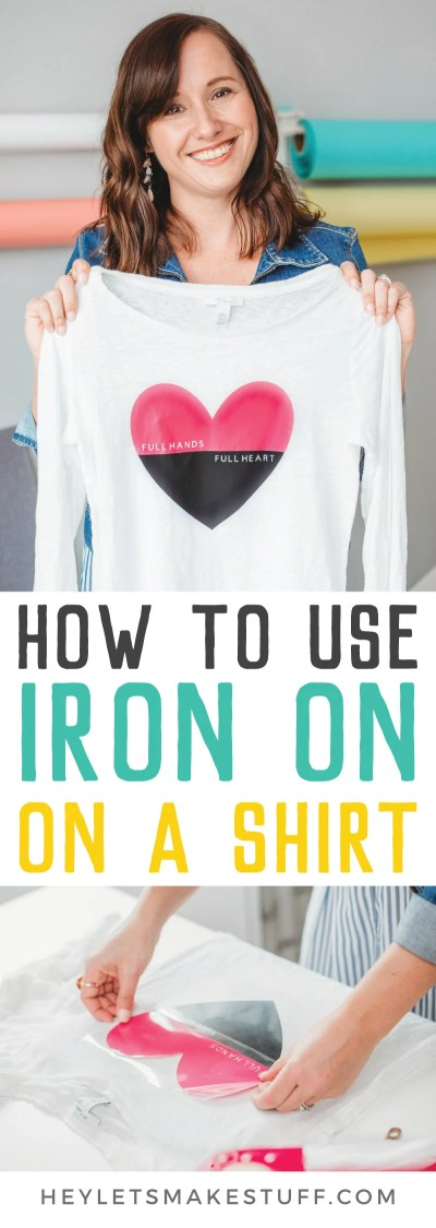 Customize a plain shirt using iron on vinyl! You can make all sorts of designs for custom projects and family vacation tees when you learn to use Cricut iron on vinyl on a shirt!