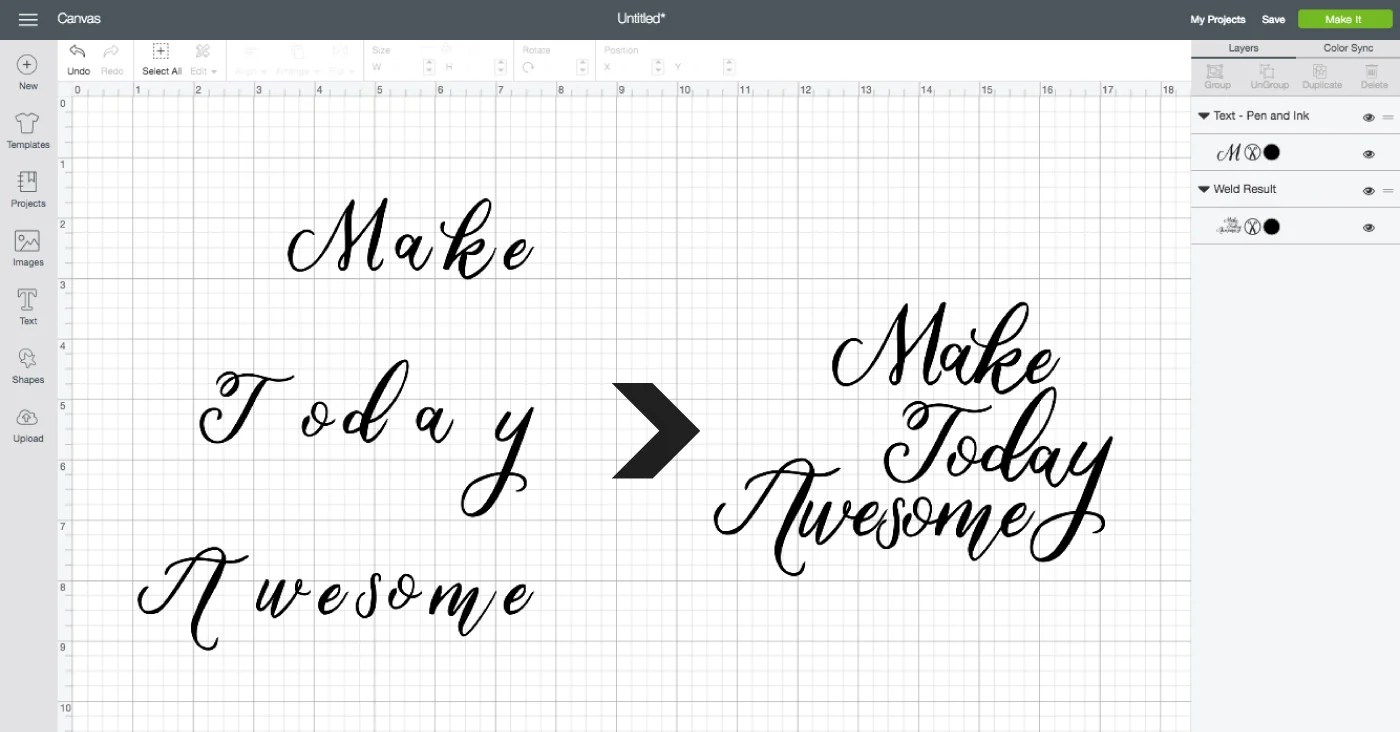 Working with Script Fonts in Cricut Design Space - Hey, Let's Make Stuff