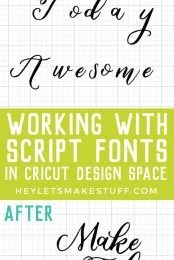Problems cutting script fonts on your Cricut? Learn how to properly space your script fonts in Cricut Design Space and then connect them together so they cut as one piece!