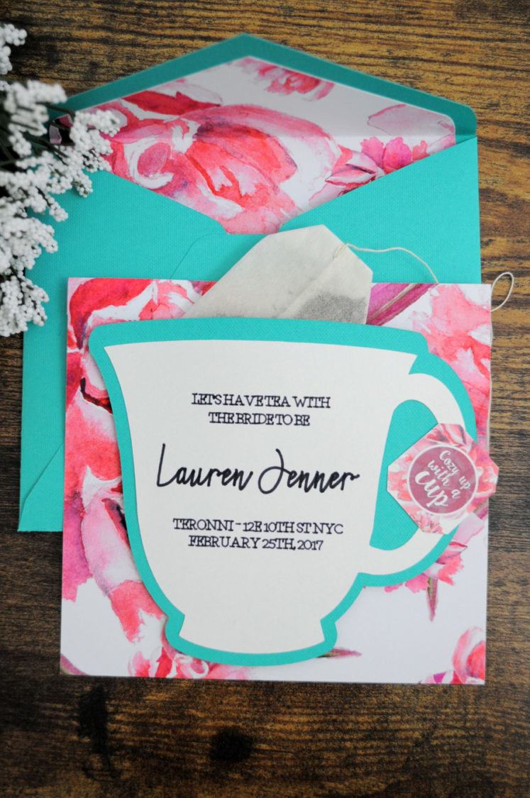 Plan the perfect bridal shower tea party! Royallacebridal.com has created a DIY Bridal Shower Tea Party Invitation that is fit for a queen!