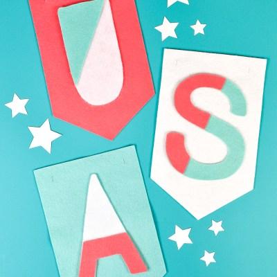 4th of July Craft Idea: Felt USA Banner