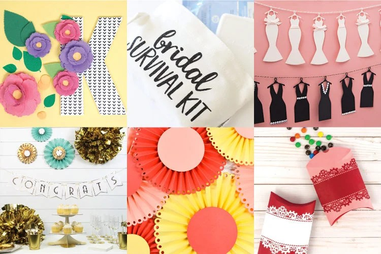 Gather your best friends and get ready for the big day! Add the bling, the glam, the fun, and all sorts of special touches with these DIY bridal shower ideas with the Cricut.