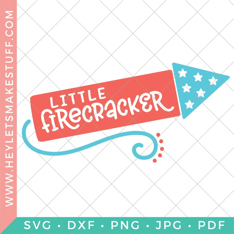 Little Firecracker SVG template