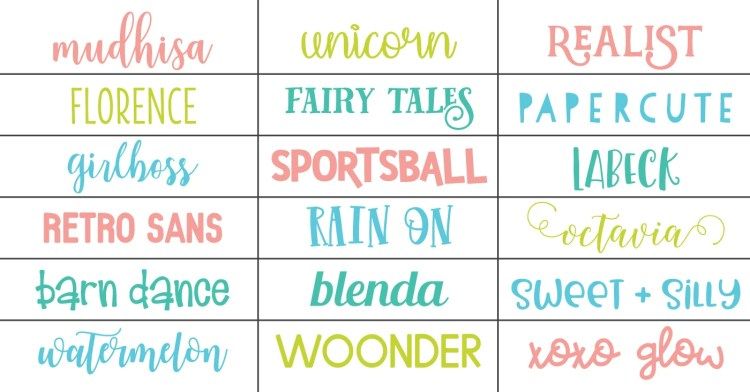 Various font examples