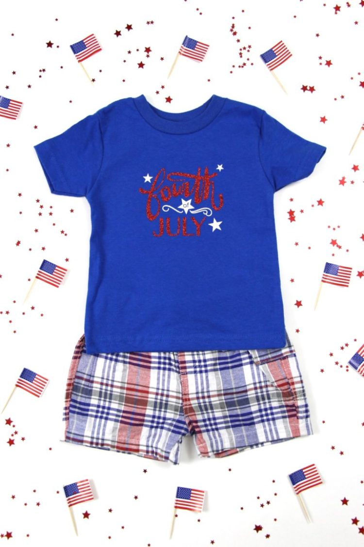 http://polkadottedbluejay.com/how-to-make-a-diy-4th-of-july-t-shirt-with-heat-transfer-vinyl/