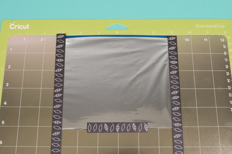Place your foil on top of the material, using the magnets to secure it.