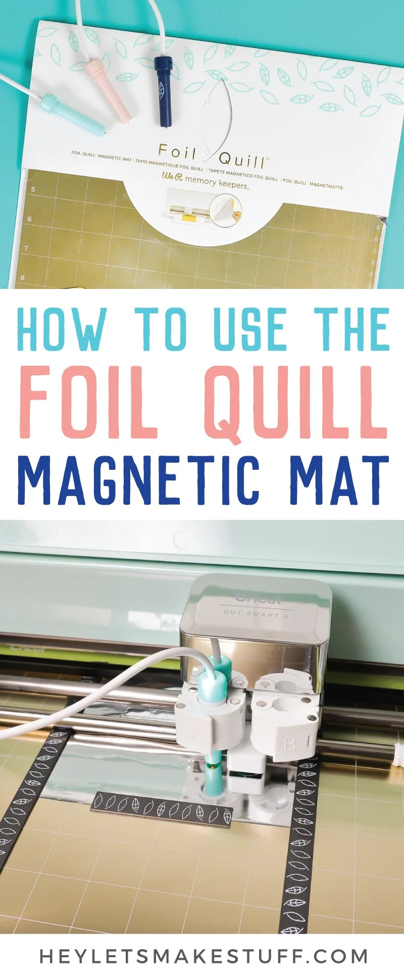Make your Foil Quill projects quicker and easier with the Foil Quill Magnetic Mat! Instead of messing with tape on your project, use the metal mat and magnet strips to hold your foil to your project. Here's our review and a tutorial for how to use it! via @heyletsmakestuf