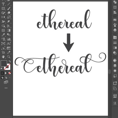 Using Glyphs in Adobe Illustrator for Cricut Projects