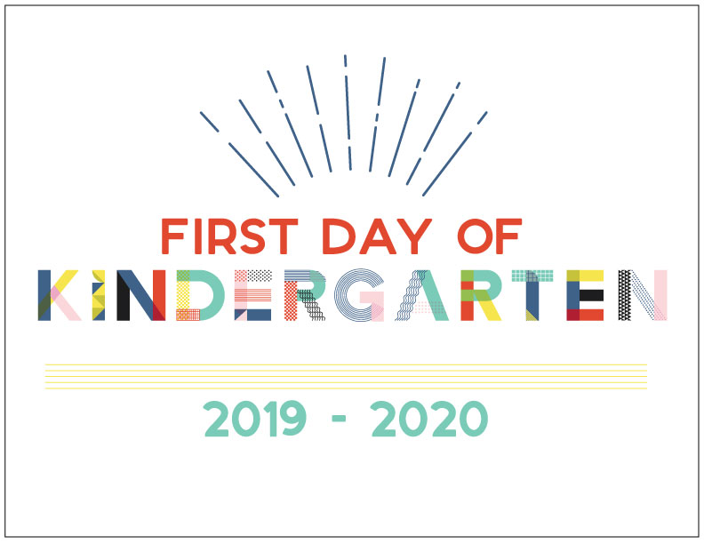 image relating to Printable First Day of School Sign named 90s Encouraged To start with Working day of College Printables - Hey, Will allow