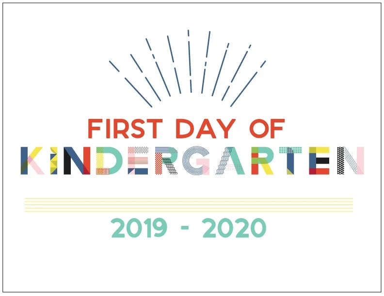 photograph relating to First Day of Kindergarten Sign Printable known as 90s Encouraged Initial Working day of Higher education Printables - Hey, Enables