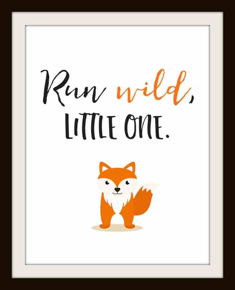 Take your pick of one or all four of these adorable little animal nursery printables from momdot.com. I'm kind of digging this cheeky little fox.