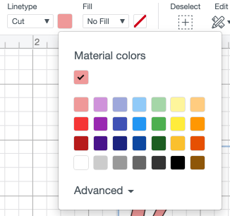Change your material color using the dropdown.