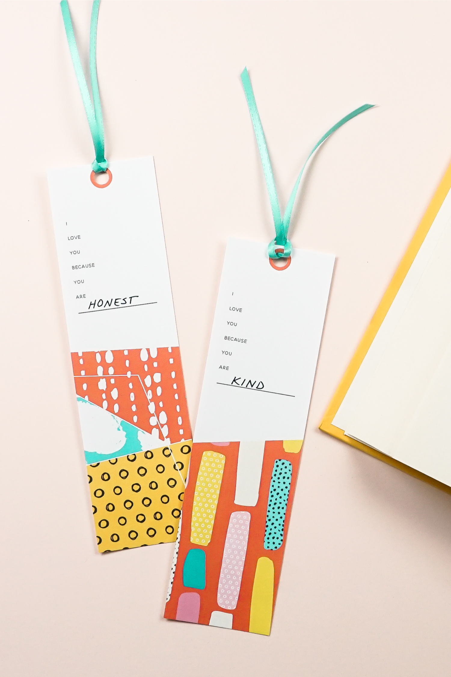 """Tell someone they are special with these sweet printable bookmarks! Just print and fill in the blank: """"I love you because you are_____"""" and gift to your favorite bookworm!"""